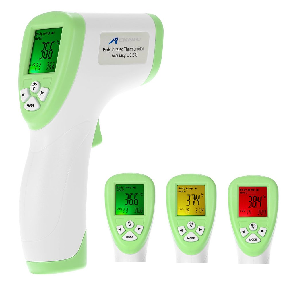 Meknic DT8806C Digital Infrared Forehead Thermometer Medical Grade Multi-Function High Sensitivity Noncontact Digital Infrared, Non-Contact Forehead Body Thermometer for Baby, Adults (Green)