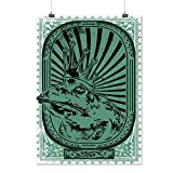 Prince Frog Crown Eye Wise Toad Matte/Glossy Poster A4 (9x12 inches) | Wellcoda