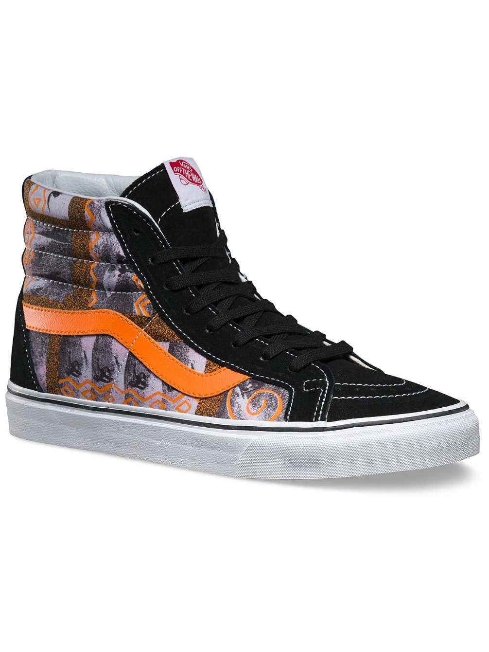6ae29e0466 Galleon - Vans Sk8-Hi Reissue Doren Hoffman Black Ankle-High Fabric Fashion  Sneaker - 9M 7.5M