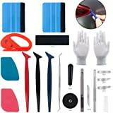 Keadic 47Pcs Car Vinyl Wrap Tool Kits, Felt Squeegees with Spare Fabric Felts, Vinyl Graphic Magnet Holders, Gloves…