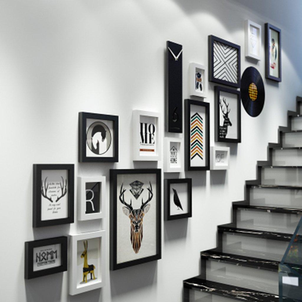 GBBD Bilderrahmen Foto Wand European Fashion Wand Kombination Treppe ...