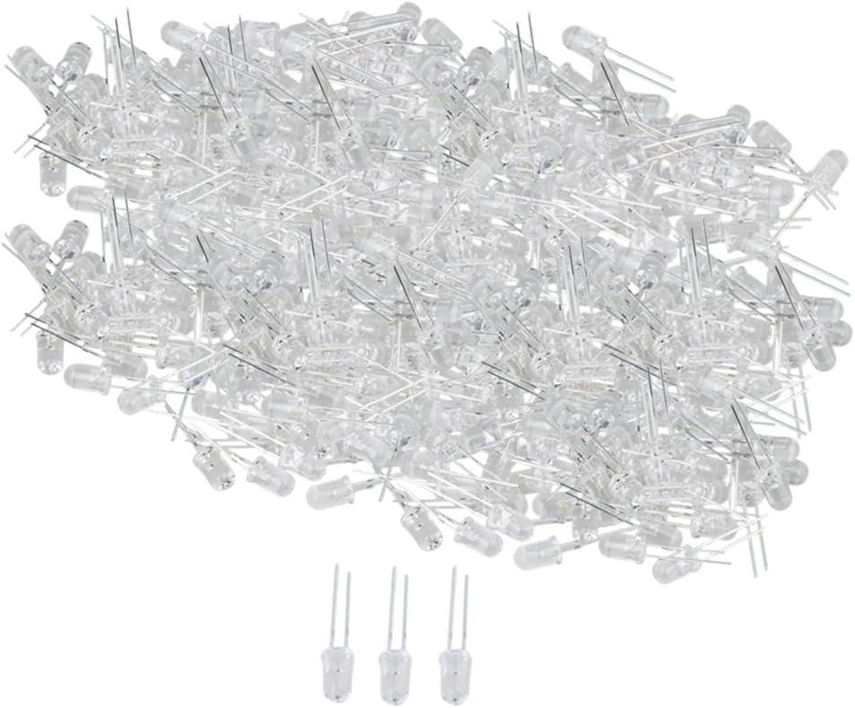 LEDs 5mm Rund Superhelle 25000mcd reinweiße LED Leuchtdioden Diode 1000 Stk
