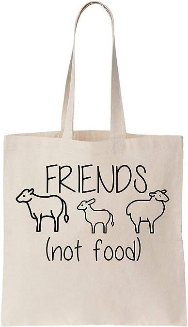Friends Not Food Stop Eating Animal Algodón Bag: Amazon.es ...