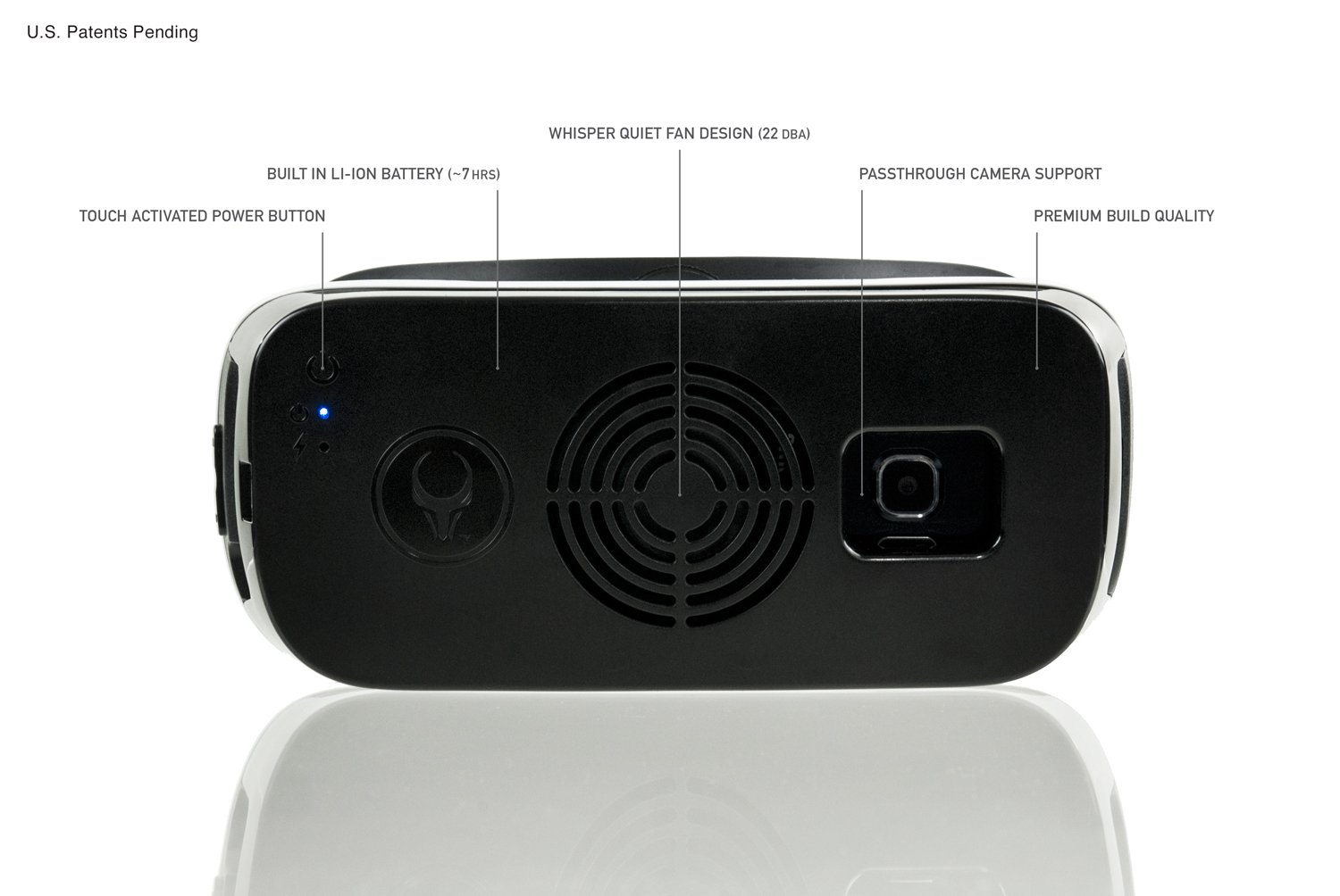 Samsung Gear VR Cooling Fan (COMPATIBLE W/ WHITE 2015 consumer edition gen. 3 - SM-R322 ONLY) Satori VR Fan w/ built-in rechargeable battery by Asterion Products (Samsung Gear VR NOT included) by Asterion Products (Image #4)