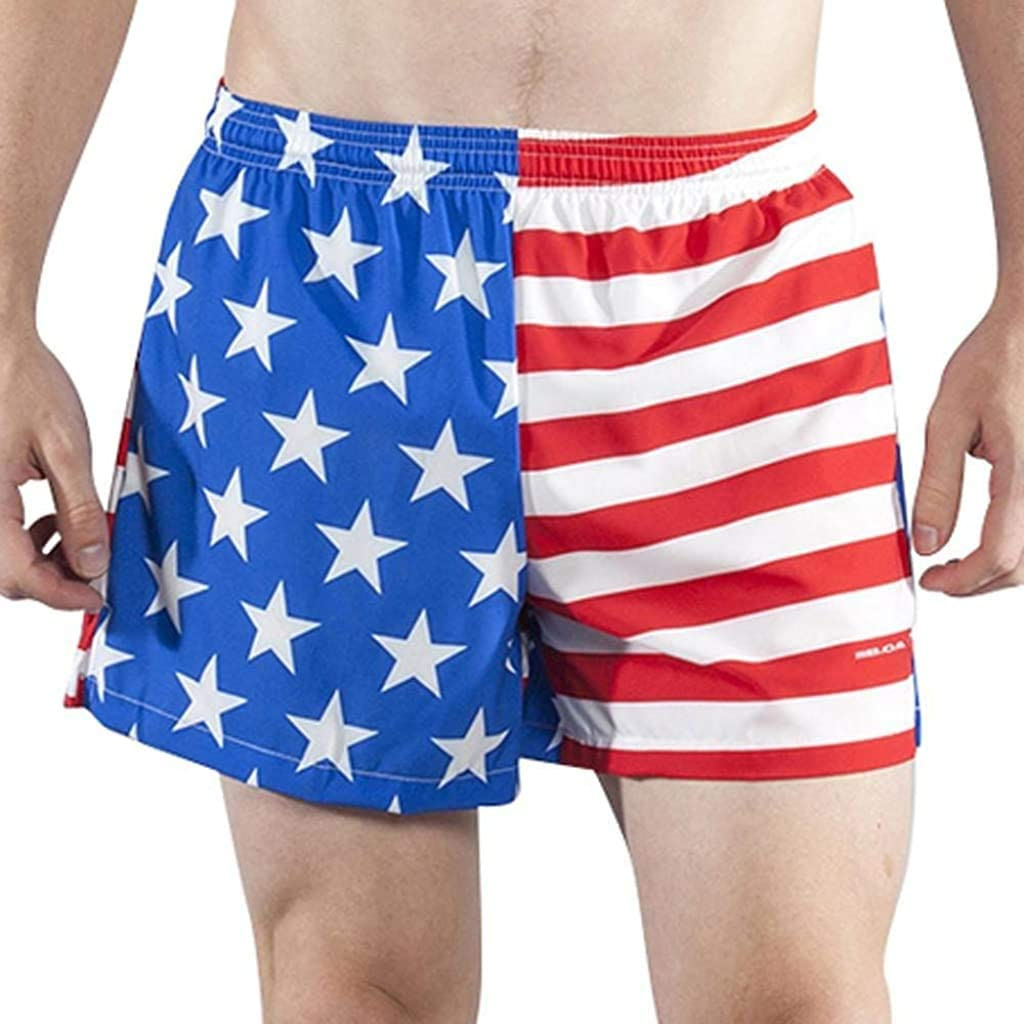 Men's Vintage Pants, Trousers, Jeans, Overalls BOA Mens Stretch 3.75 V-Notch Running Short US Flag (1102SWP) $34.00 AT vintagedancer.com