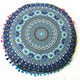 Decorative Pillow Cover - Hot Sale !Indian Large Round Floor Pillows,Beautyvan Comfortable Charming Indian Mandala Floor Pillows Round Removable and Washable Flowers Bohemian Cushion Pillows Cover Case Cushions (G)