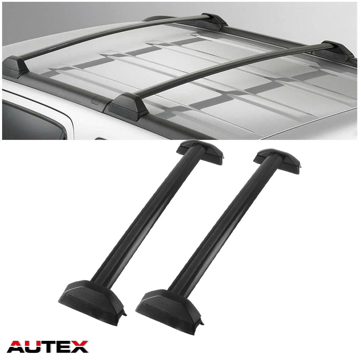 AUTEX 2Pcs Aluminum Cross Bar Roof Rack Compatible with 2002 2003 2004 2005 2006 Honda CRV Roof Top Rail Rack Crossbar Luggage Cargo Carrier Rack
