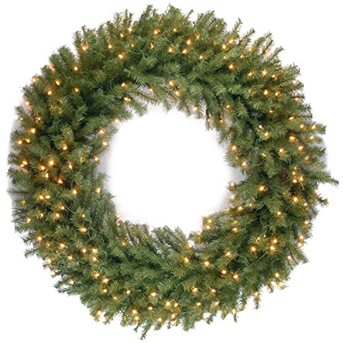 48 Inch Outdoor Lighted Christmas Wreath in US - 3