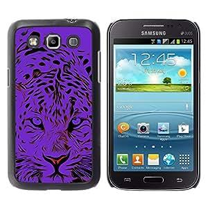TopCaseStore / la caja del caucho duro de la cubierta de protección de la piel - Black Tiger Animal Stylish - Samsung Galaxy Win I8550 I8552 Grand Quattro