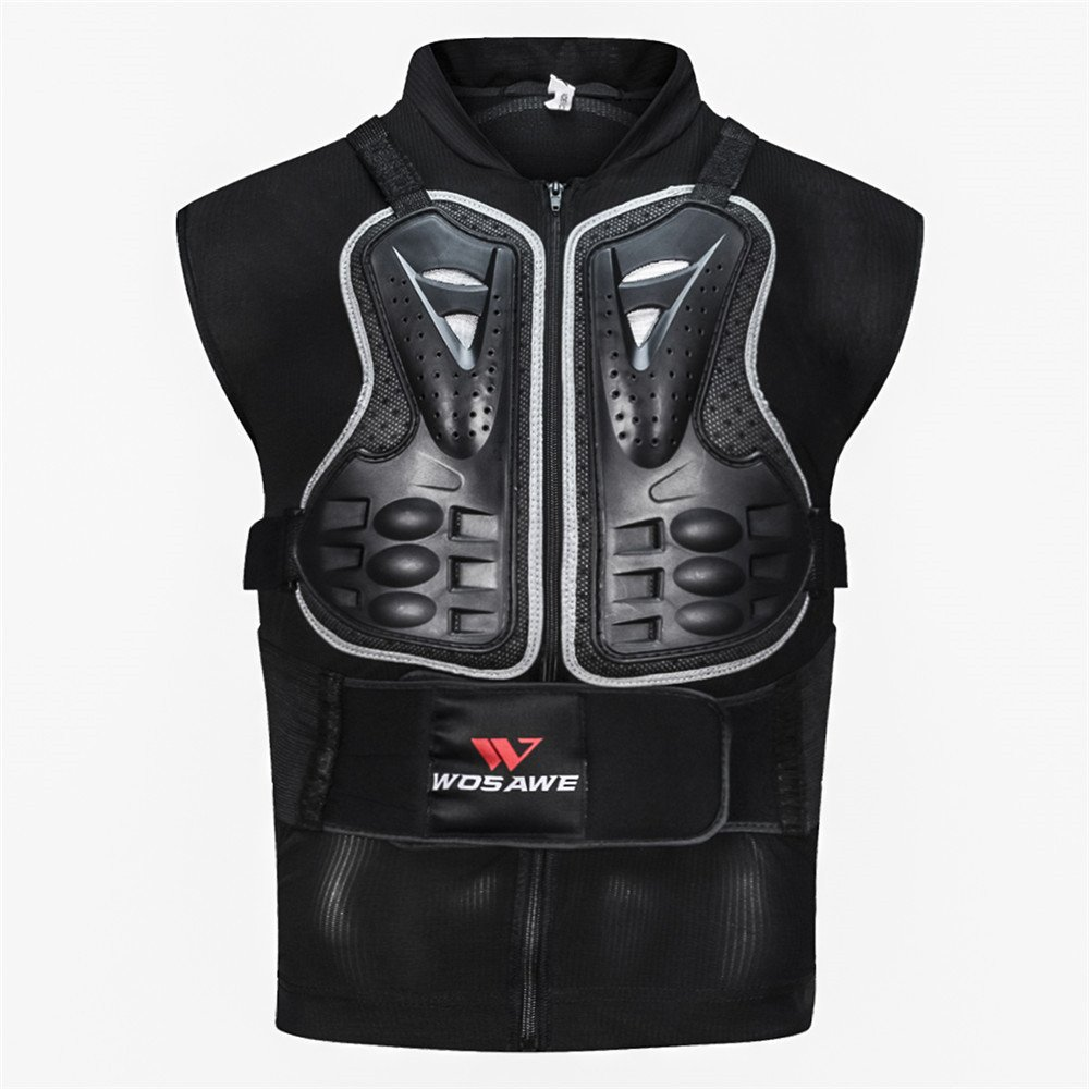 WOSAWE Motorcycles Chest Back Spine Protector Armour Vest Anti-fall Gear Racing Body Armor for Motocross, Cycling, Skiing and Skateboarding XL BC338-0XL