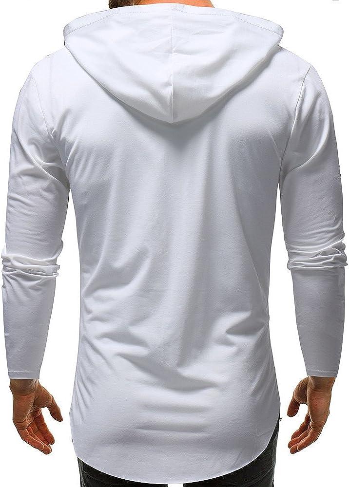 JYJM 2019 Männer Reine Farbe Camouflage Stitching Hoodie