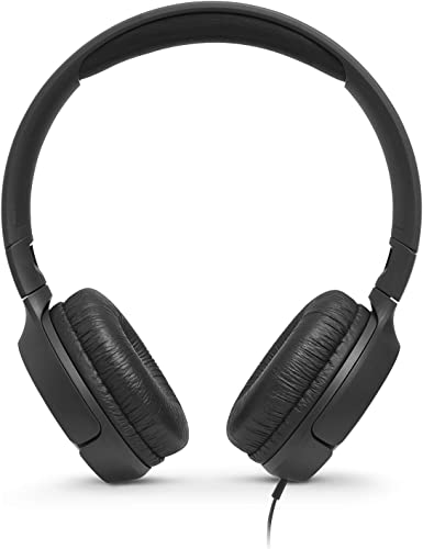 JBL T500 On-Ear Headphone In-Ear Headphone with One-Button Remote Mic, Black
