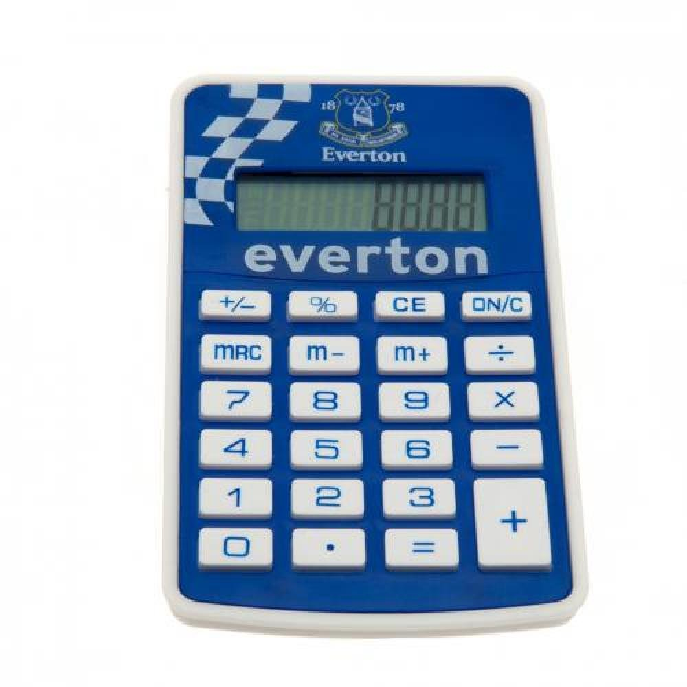 Everton FC Official Football Gift Pocket Calculator - A Great Christmas / Birthday Gift Idea For Men And Boys