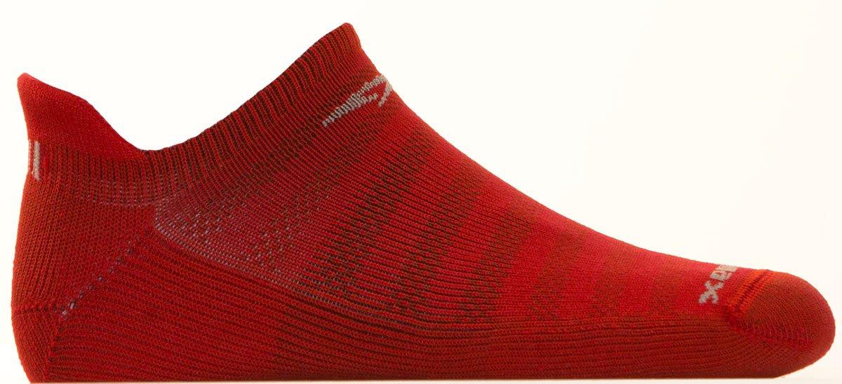Drymax Running Lite Mesh No Show Tab, Torrid Red, W5-7 / M3.5-5.5 by Drymax