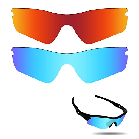 047b8cb01792c Fiskr Anti-Saltwater Polarized Replacement Lenses for Oakley Radar Path  Sunglasses 2 Pairs Packed (