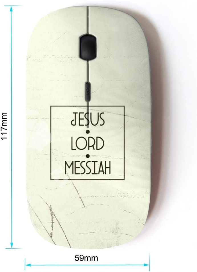BIBLE VERSE JESUS LORD MESSIAH KOOLmouse Optical 2.4G Wireless Computer Mouse