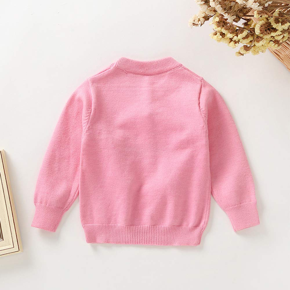 KONFA Toddler Baby Girls Cartoon Five-Pompom Pointed Star Sweater Tops,Kids Long Sleeves Warm Pullover Autumn Winter Clothes