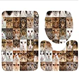 Keshia Dwete three-piece toilet seat pad customCasino Collection The Dices Close-Up Abstract Monochromic Chaotic Crowded Gaming Houses