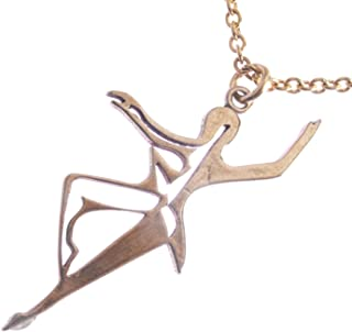 """product image for Dancing for Peace Filagree Peace Bronze Pendant Necklace on 18"""" Rolo Chain"""