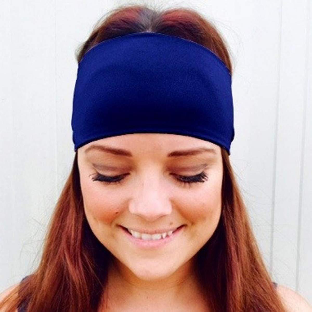 Amazon.com : Ladies Sports Wide Yoga Sweatband Gym Stretch ...