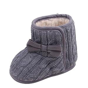 Tefamore Zapatos bebe de sole suave de moda invierno de calentar para ninos
