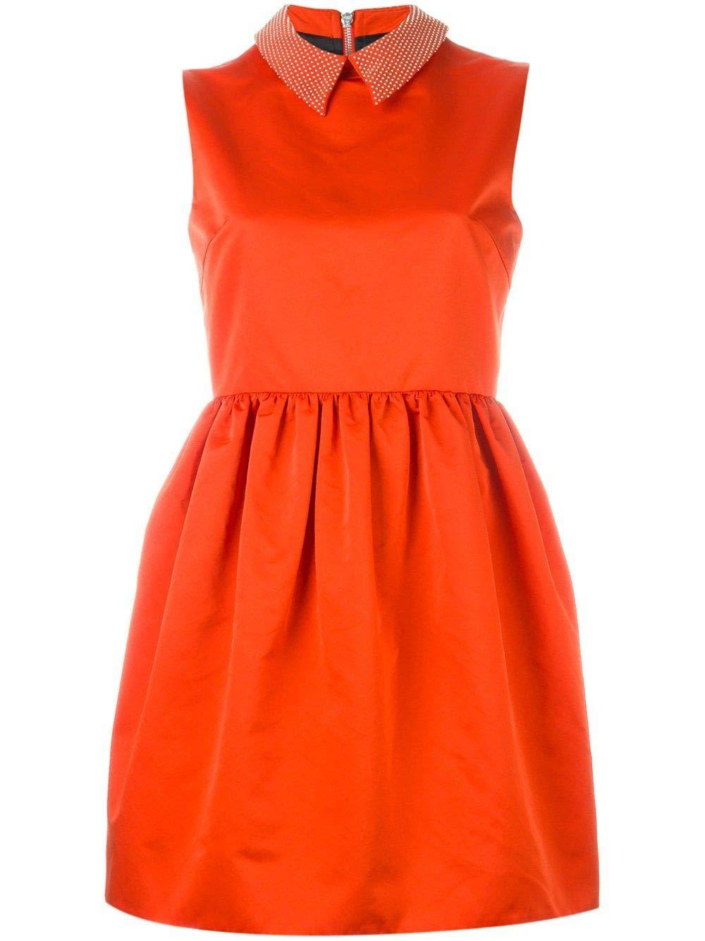 - Mcq By Alexander Mcqueen Women's 402991RGF10orange orange Polyester Dress