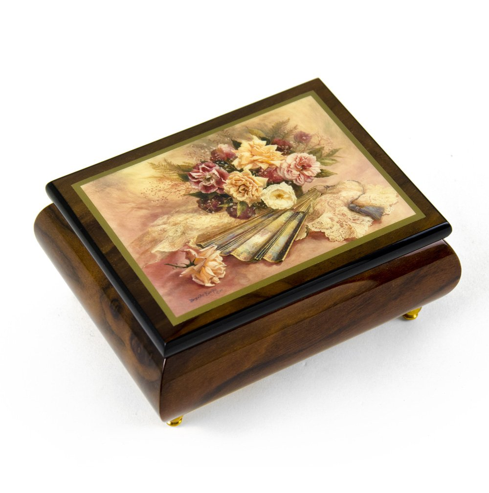 Handcrafted Ercolano Music Box Featuring ''Nostalgia'' by Brenda Burke - There is No Business Like Show Business