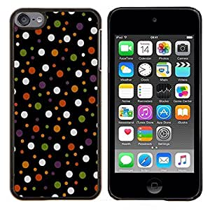 Jordan Colourful Shop - Colored Polka Vintage Dots Pattern For Apple iPod Touch 6 6th Generation Personalizado negro cubierta de la caja de pl????stico