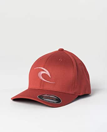Rip Curl Men's Flexfit Cap ~ Fleck Curve Peak red