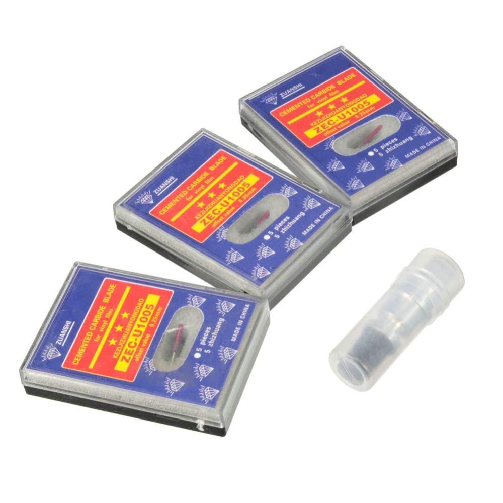 Lembem - 1pcs High Hardness CB09 Silhouette Cameo Holder + 15Pcs Blades Vinyl Cutter Plotter 45 Degree Sale by Lembem (Image #3)