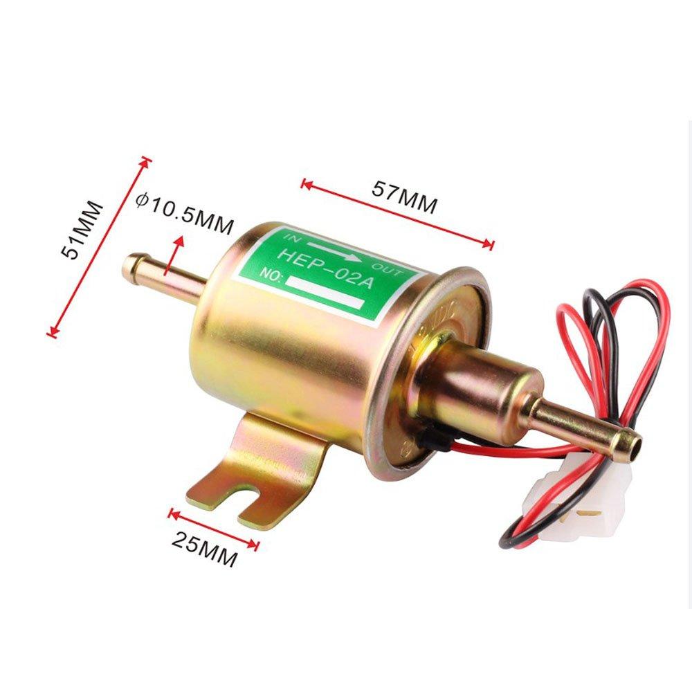Universal Automotive Modified hep-02 a 12 V Heavy Duty Elektrische Kraftstoffpumpe Metall f/ür Benzin /& Diesel