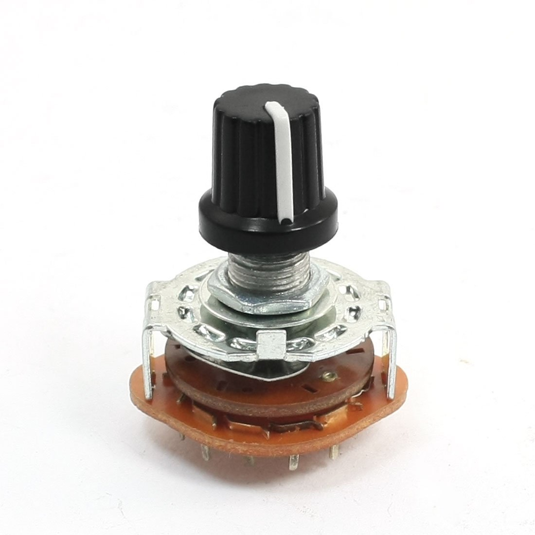 Uxcell 6mm Dia Shaft 2 Pole 6 Position Band Channel Way Switch Positions Selector Rotary Electronics