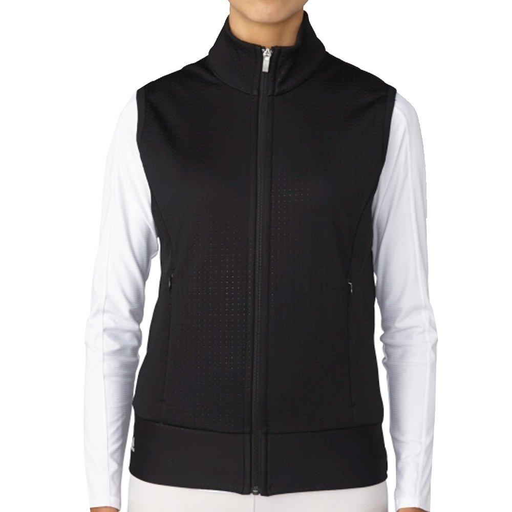 adidas Golf Womens Wind Fleece Vest, Black, Small