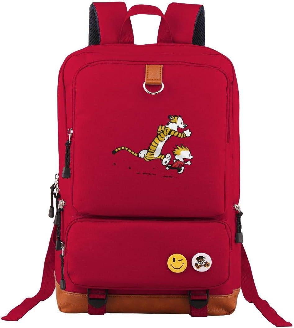 Travel Backpack Calvin And Hobbes Tiger Laptop Bag Fashion Bookbag School Daypack