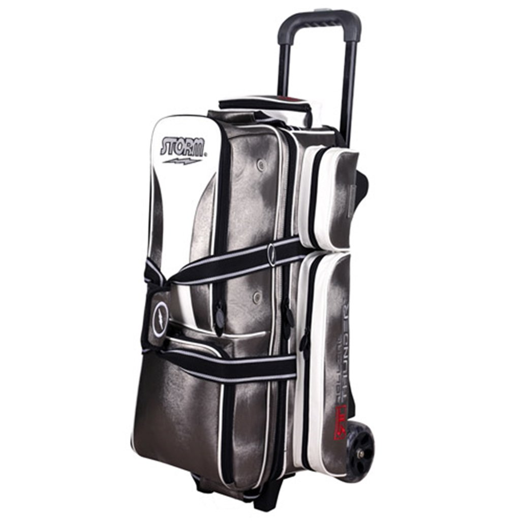 Storm 3 Ball Rolling Thunder Signature Series Bowling Bag Platinum
