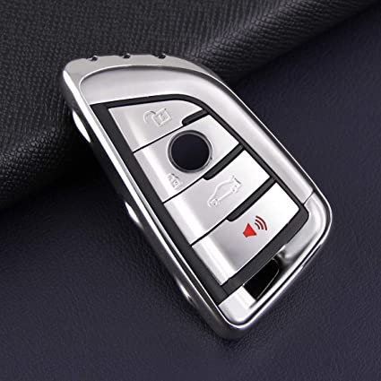 Autobig Key Case Shell For Bmw New 5 6 7 Series M5 X1 X3 X5 X6 Silver Soft Tpu Fob Cover G30 G31 G32 G11 G12 F90 F48 G01 F15 F85 F16 F86