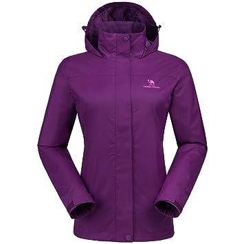 37790aa7ae29 CAMEL CROWN Veste imperméable pour Femmes Windbreaker Coupe Vent Vestes  Coupe-Pluie de Ski Veste