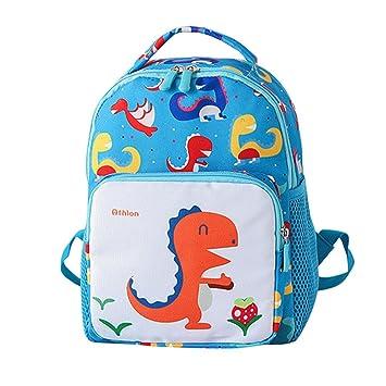 Mochila escolar para niños, diseño de dinosaurio de dibujos animados de Saihui para niños,