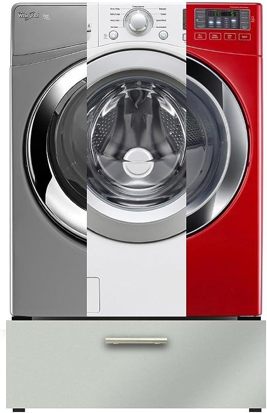 Tumble Dryer Washing Machine Pedestal Kit with Pull-Out Shelf Drawer White Base