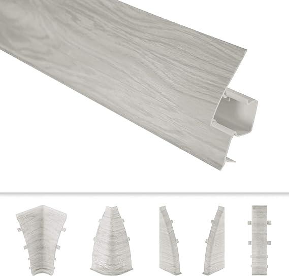 DQ-PP Innenecke 62mm PVC Buche Laminatleisten Fussleisten aus Kunststoff PVC Laminat Dekore Fu/ßleisten