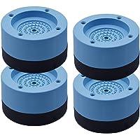 Pacote com 4 calços de borracha para pés de máquina de lavar, antivibração e anti-deslocamento, para evitar movimentação…
