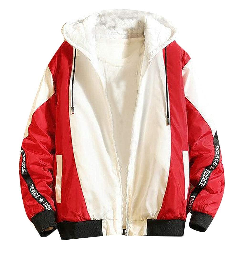 Macondoo Mens Big /& Tall Zip Warm Hooded Outwear Overcoat Parkas Coats Jacket