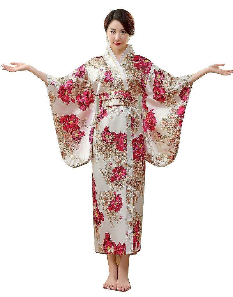 Shanghai Story Yukata Women's Elegant Charming Short Kimono Robe XZ1138