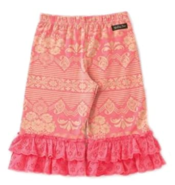 d8c6b38745 Image Unavailable. Image not available for. Color  Matilda Jane Happy    Free Sugar Rush Pink Cropped Big Ruffles Pants