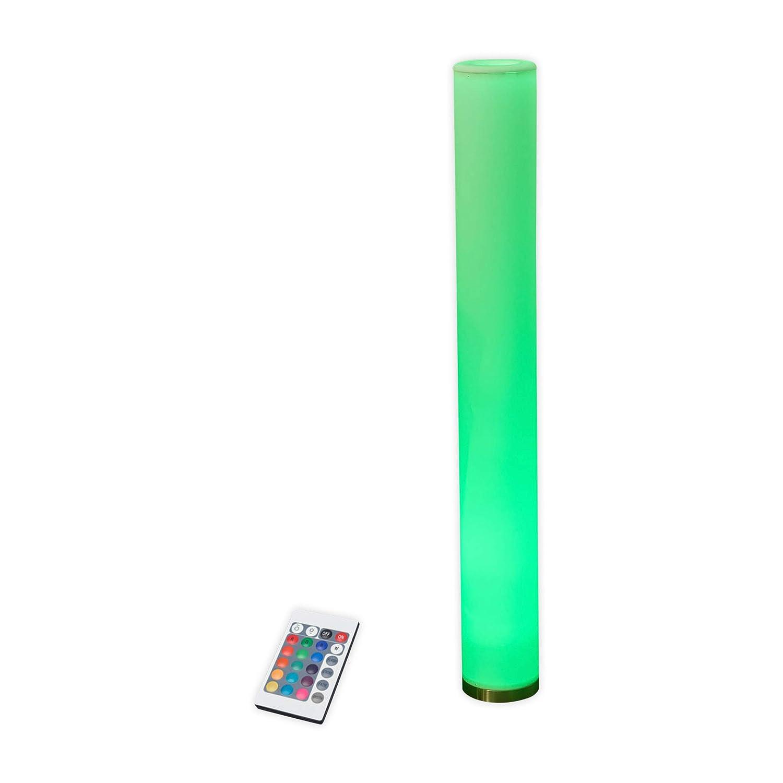 Lampenwelt LED Stehlampe 'Mirella' dimmbar mit Fernbedienung (Modern) in Weiß u.a. für Wohnzimmer & Esszimmer (1 flammig, GU10, A, inkl. Leuchtmittel) | LED-Stehleuchte, Floor Lamp