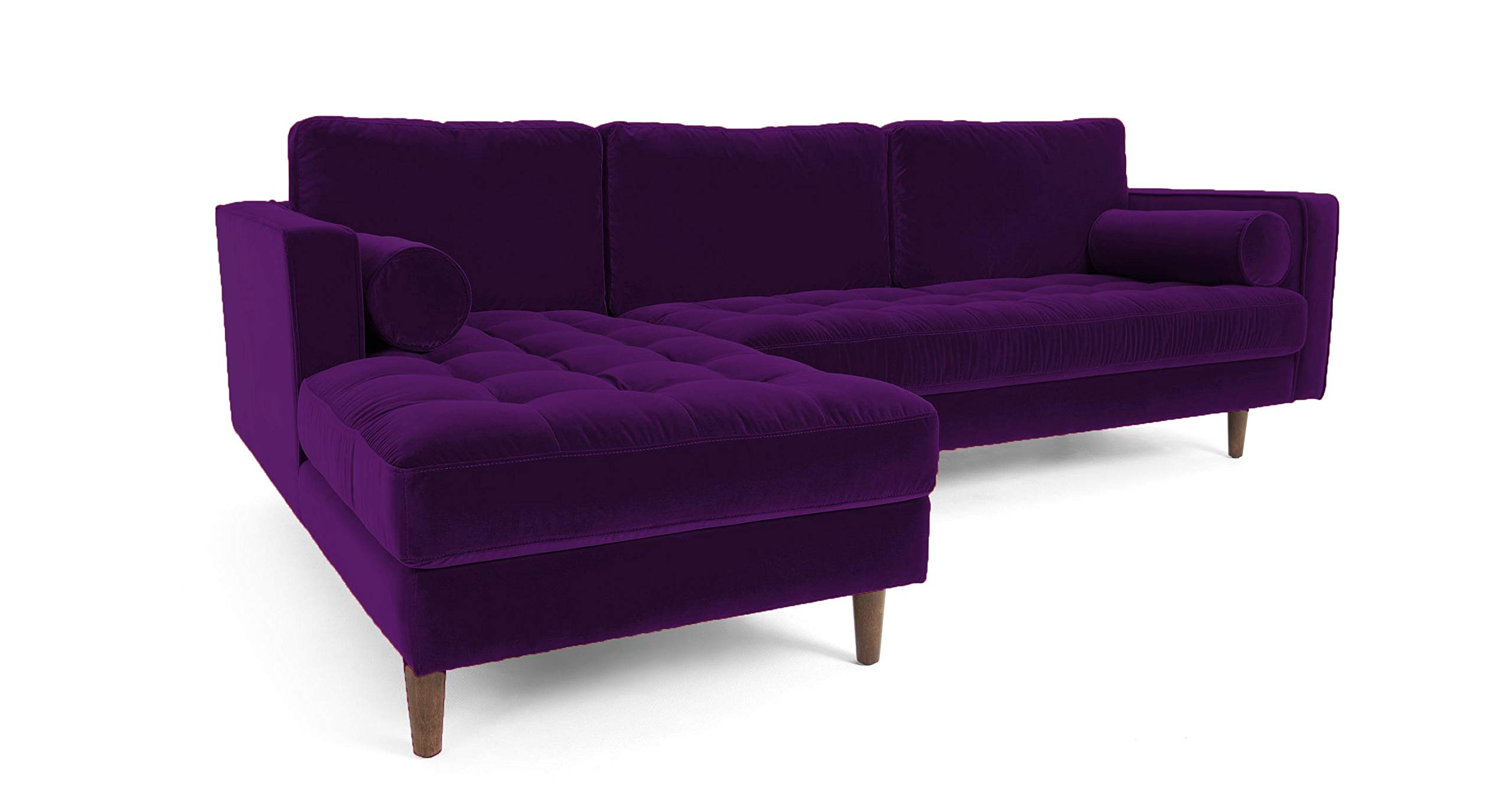 the latest 4002c c4e0f Galaxy Design Velvet Series L Shape Sofa attractive Scott design Velvet  Fabric, Pure Wood base Purple Color GDFSCT-564-43