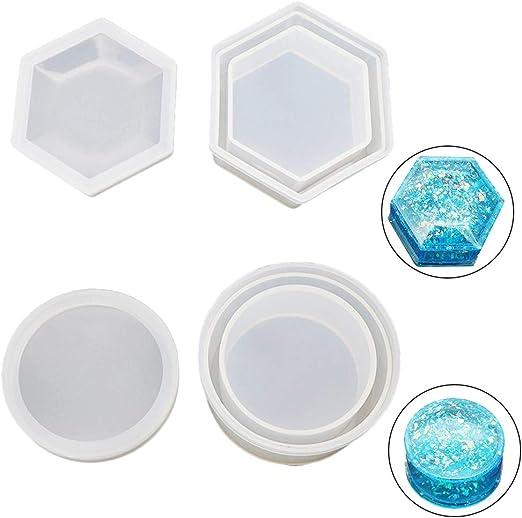 Caja de moldes de resina de silicona para colgar, 2 unidades, diseño de caja con tapa: Amazon.es: Hogar