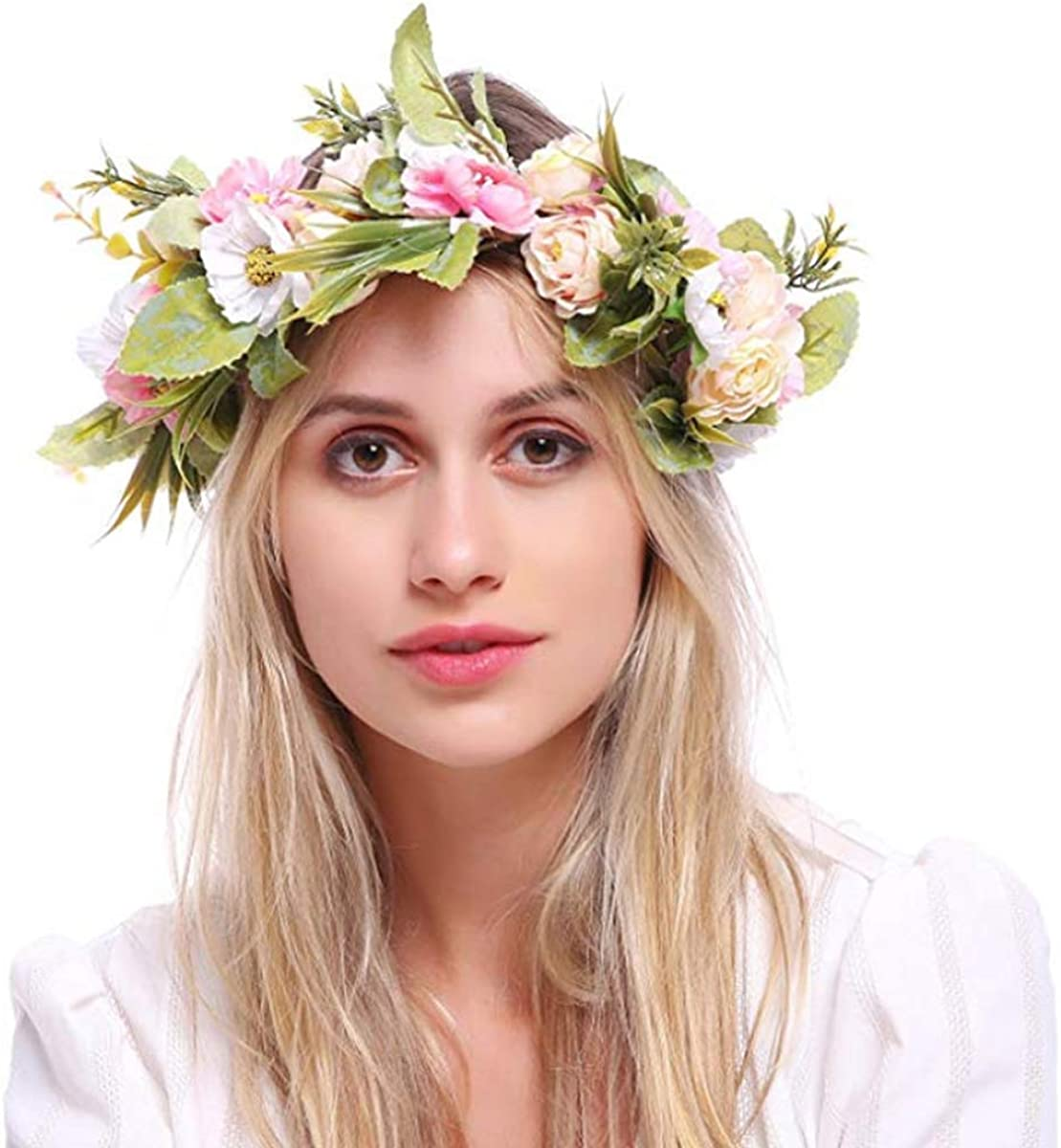 Flower Headband Halo Floral...