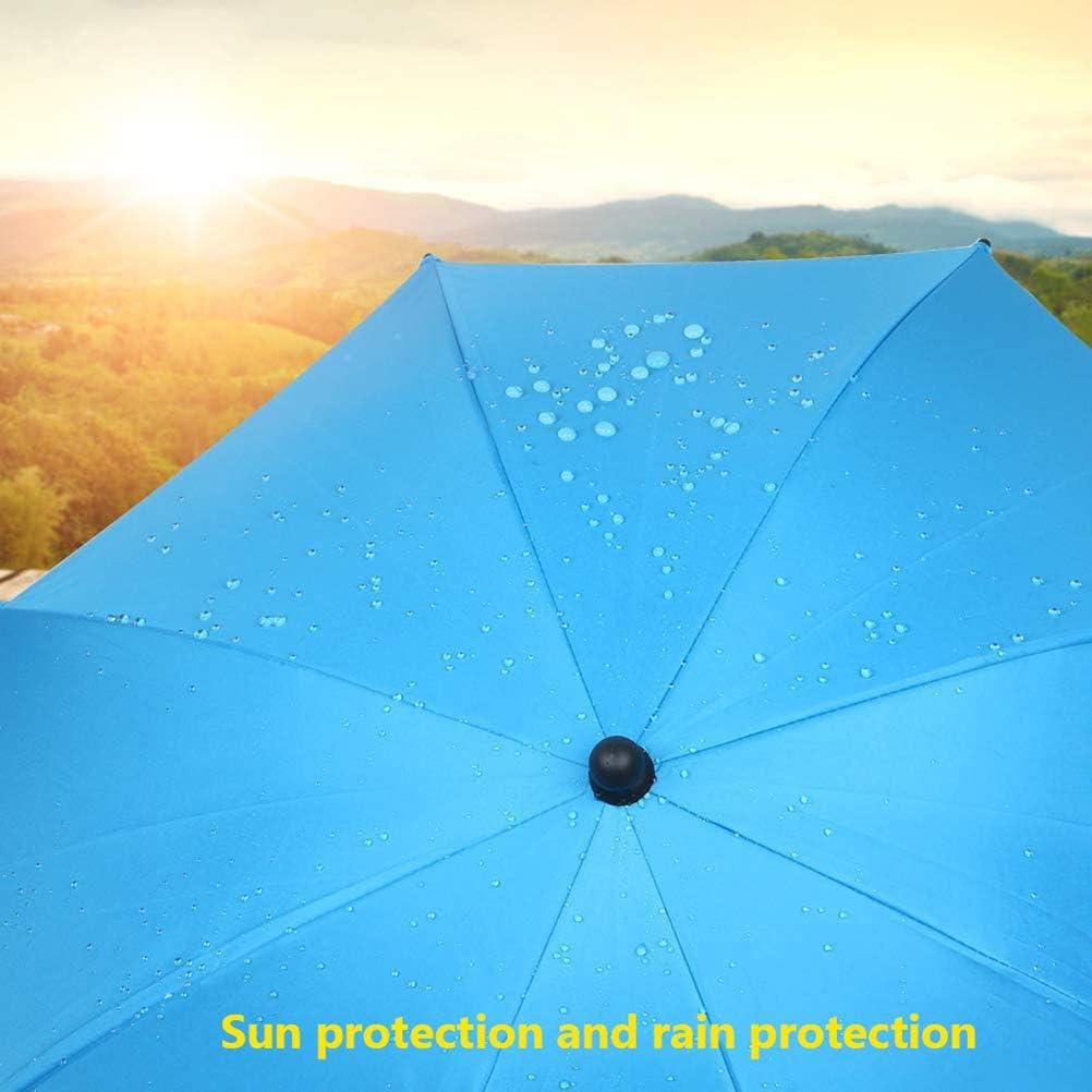 Poxcap Poussette Parapluie De Pluie Protection UV Poussette Pare-soleil /Étanche Flexible Parasol 360 Degr/és avec Porte-Tube Voiture Parasol V/élo Fauteuil Roulant