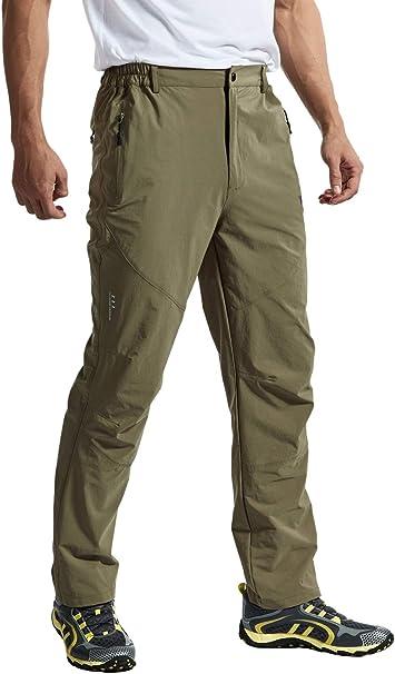 Rdruko Mens Hiking Pants Convertible Water Resistant Zip Off Fishing Climbing Travel Cargo Carpenter Pants